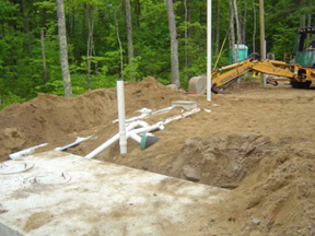 Installation of a septic system